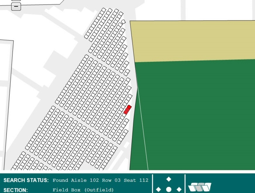 3 Box Seats On Wall Tickets For Chicago Cubs Vs St